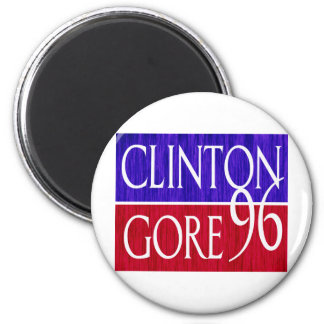 Clinton Gore 96 Distressed Design 2 Inch Round Magnet