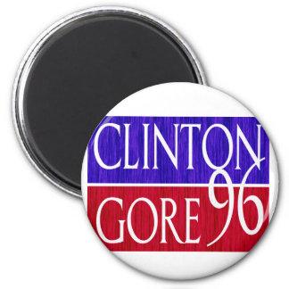 Clinton Gore 96 Distressed Design 2 Inch Round Magnet
