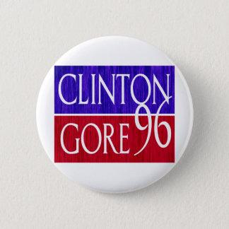 Clinton Gore 96 Distressed Design Button