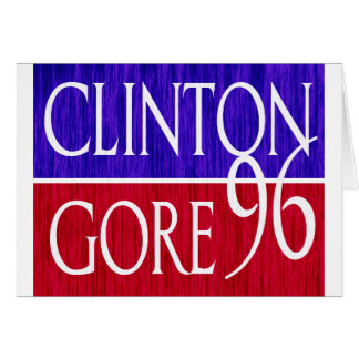 Clinton Gore 96 Distressed Design Greeting Card