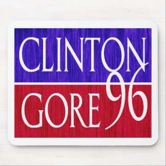 Clinton Gore 96 Distressed Design Mouse Pad