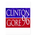 Clinton Gore 96 Distressed Design Postcards