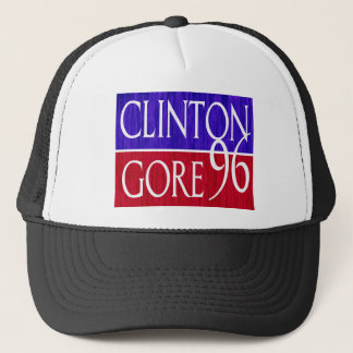 Clinton Gore 96 Distressed Design Trucker Hat