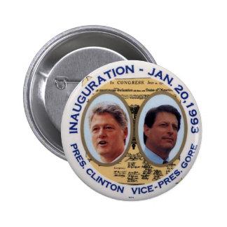 Clinton-Gore de 'jugate 93 inauguraciones - botón Pin