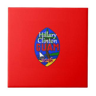 Clinton Guam 2016 Azulejo Cuadrado Pequeño