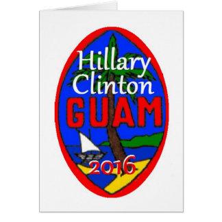 Clinton Guam 2016 Card