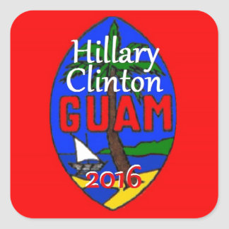 Clinton Guam 2016 Calcomanías Cuadradass Personalizadas