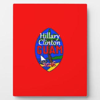 Clinton Guam 2016 Display Plaques