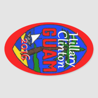 Clinton Guam 2016 Sticker