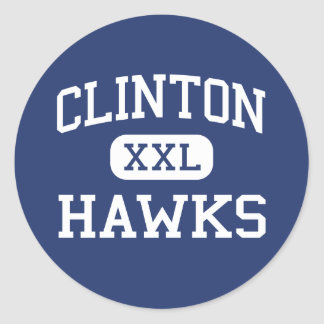 Clinton Hawks Middle Clinton Tennessee Classic Round Sticker