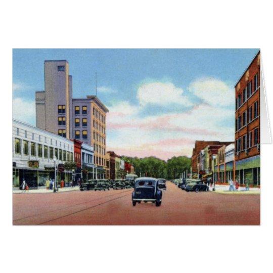 Clinton Iowa Fifth Avenue Town View Card