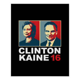 Clinton Kaine 16 - Posterized -- Póster