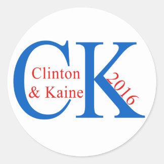 Clinton Kaine 2016 Classic Round Sticker