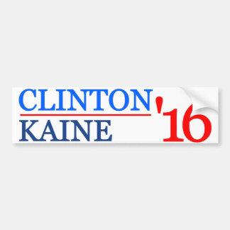 Clinton Kaine 2016 Pegatina Para Auto