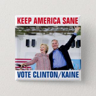 Clinton/Kaine 2016 Pinback Button