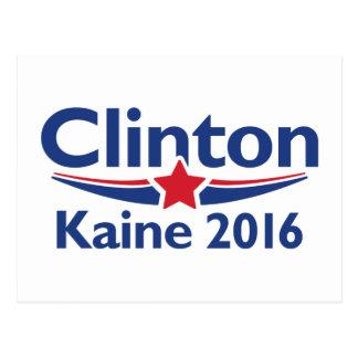Clinton Kaine 2016 Postcard