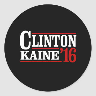 Clinton Kaine 2016 - Retro Sign -- Classic Round Sticker