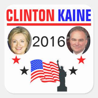 CLINTON KAINE 2016 SQUARE STICKER