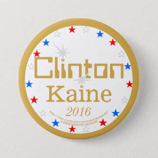 Clinton Kaine 2016 Strong Ticket 4 Strong America Pinback Button