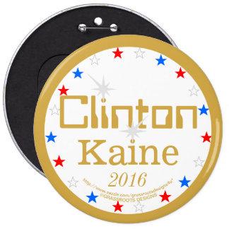 Clinton Kaine 2016 Strong Ticket 4 Strong America Pinback Button