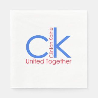 Clinton Kaine 2016  United Together Paper Napkin