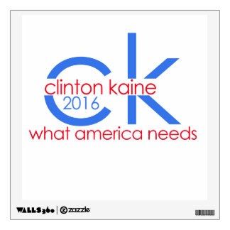 Clinton Kaine 2016 what america needs! Wall Sticker