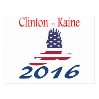 Clinton/Kaine eagle flag Postcard