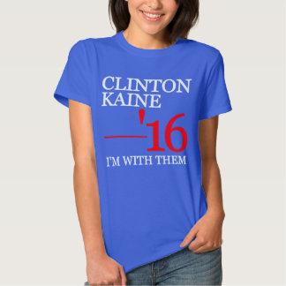 Clinton Kaine estoy con ellos Polera