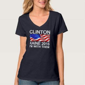 Clinton Kaine estoy con ellos Poleras