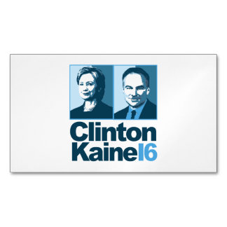 Clinton Kaine for America 2016 Magnetic Business Card