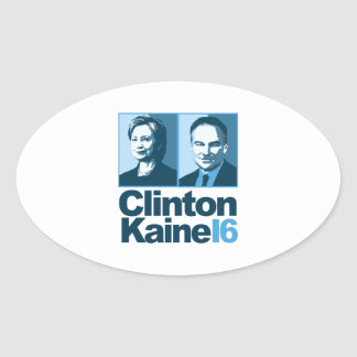Clinton Kaine for America 2016 Oval Sticker