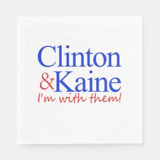 Clinton & Kaine: I'm with them! Paper Napkin