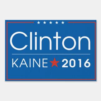 Clinton/Kaine muestra de 2016 yardas Señal