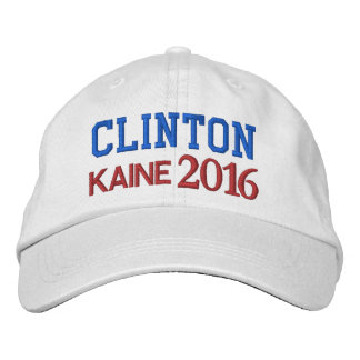 CLINTON KAINE Presidential Election 2016 Embroidered Baseball Hat