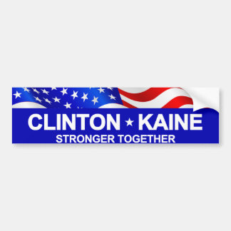 Clinton Kaine Stronger Together Bumper Sticker
