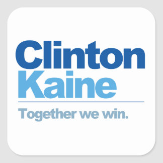 Clinton Kaine - Together we win Square Sticker