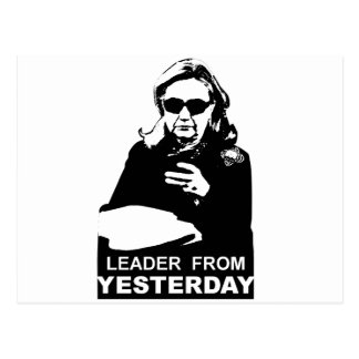 Clinton: Leader from Yesterday Postcard