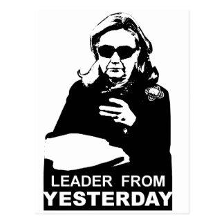 Clinton: Líder de ayer Tarjeta Postal