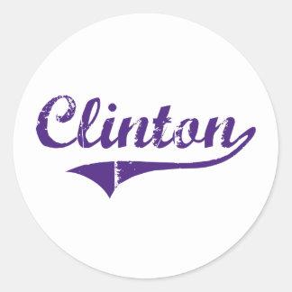 Clinton Louisiana Classic Design Classic Round Sticker