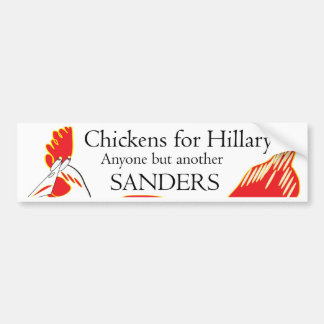 Clinton Narrow Win With Chickens was Nip and Cluck Bumper Sticker