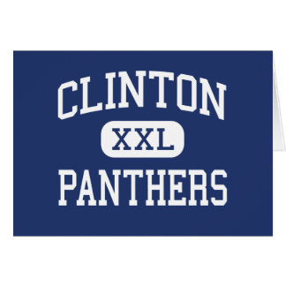Clinton Panthers Middle Tulsa Oklahoma Greeting Cards