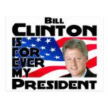 Clinton para siempre tarjeta postal