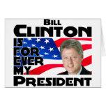 Clinton para siempre tarjeton