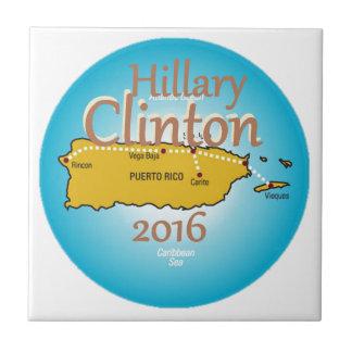 Clinton Puerto Rico 2016 Azulejo Cuadrado Pequeño