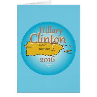 Clinton Puerto Rico 2016 Card