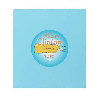 Clinton Puerto Rico 2016 Note Pad