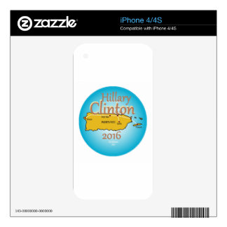 Clinton Puerto Rico 2016 Skins For iPhone 4S