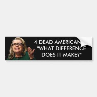 ¿Clinton - qué diferencia? Pegatina Para Auto