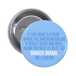Clinton Quote on Obama Button