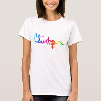Clinton Signature Feminist Power Symbol Rainbow T-Shirt